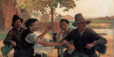La discussion politique, 1889 (Émile Friant, Wikimedia)