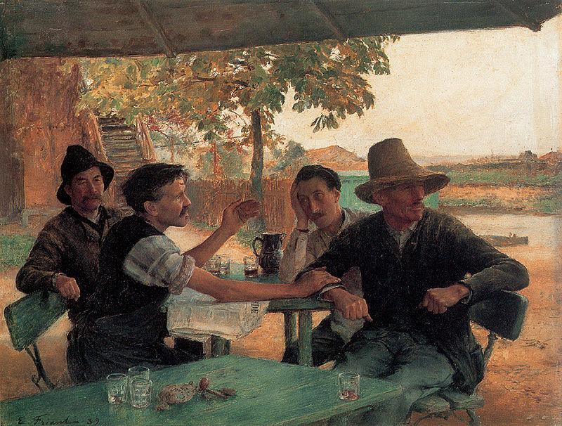 La discussion politique, 1889 (Émile Friant, Wikimedia)