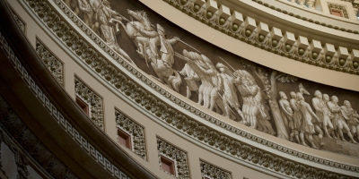 The Frieze of American History in the Rotunda of the United States Capitol (Flickr)