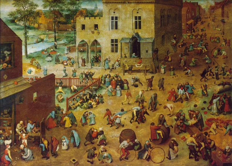 Children's Games, 1560 (Pieter Bruegel the Elder, Wikimedia)