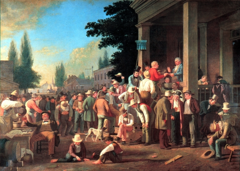 The County Election (George Caleb Bingham, Wikimedia)