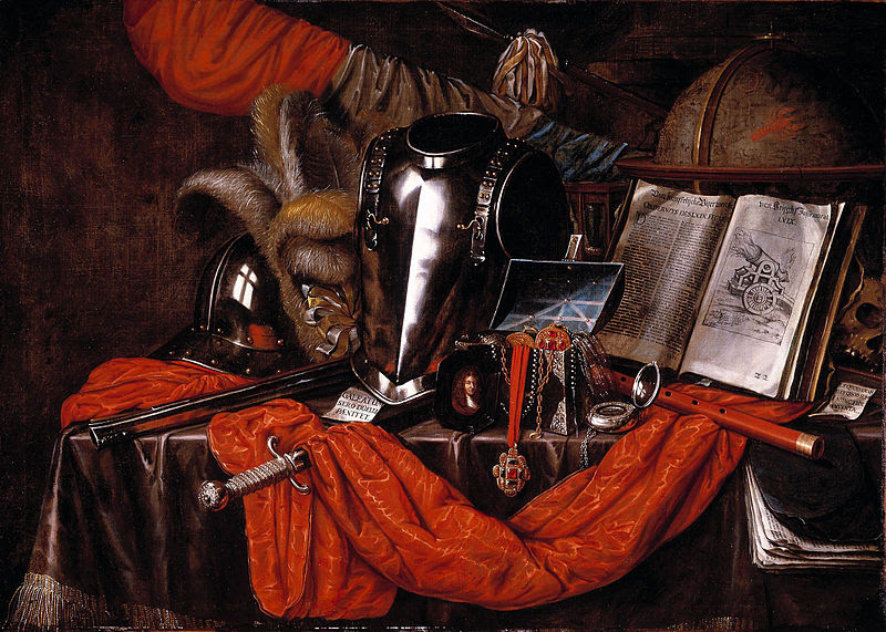 Evert Collier, Vanitas, 1669, (Source: Wikimedia)