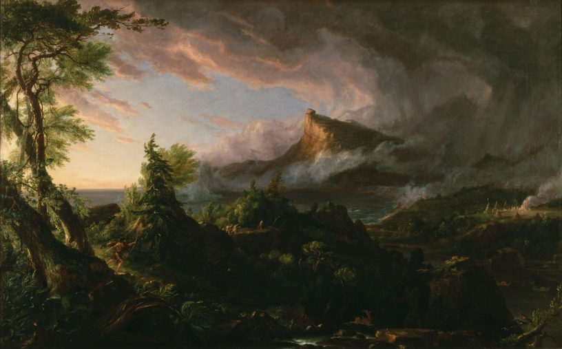 The Savage from The Course of Empire (Thomas Cole, Wikimedia)
