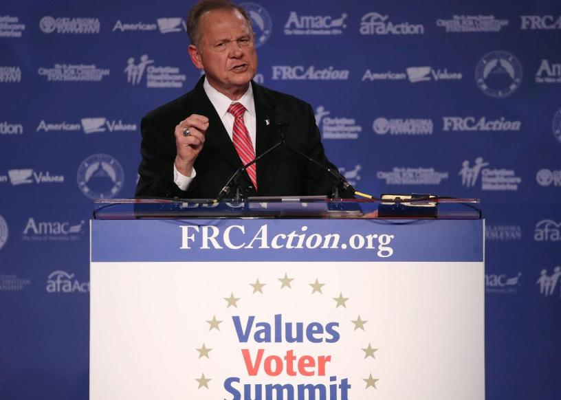 Roy Moore at the Values Voter Summit, Mark Wilson, (Source: Getty Images)