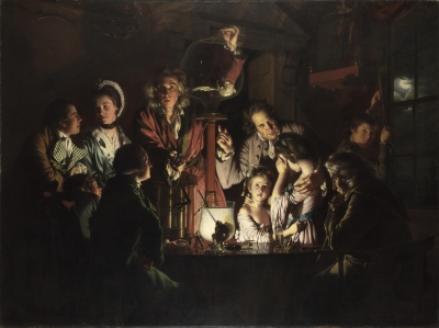 Joseph Wright of Derby, An Experiment on a Bird in an Air Pump, 1768, (Source: Wikimedia)