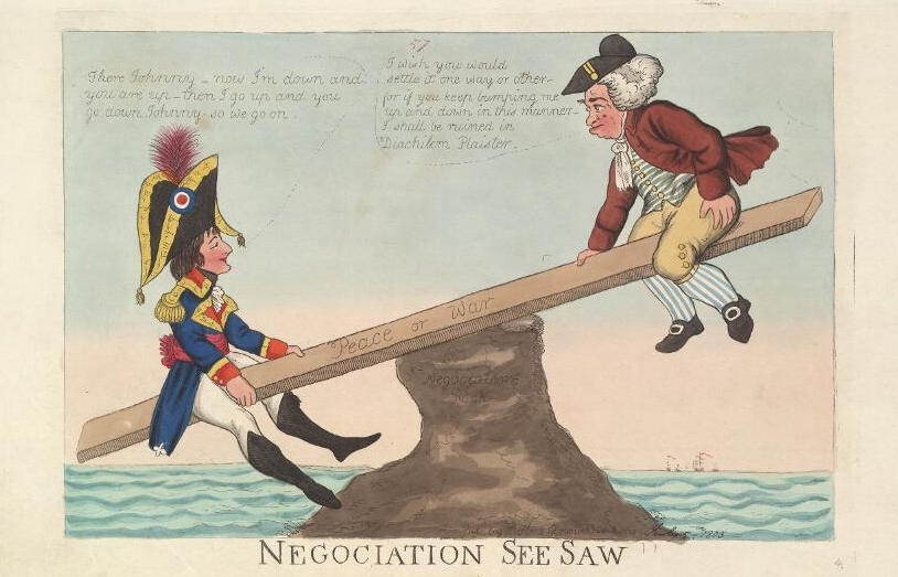 Negociation See-Saw (George Moutard Woodward, Wikimedia)