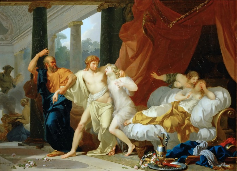 Socrates Tears Alcibiades from the Embrace of Sensual Pleasure (Jean-Baptiste Regnault, Wikimedia)
